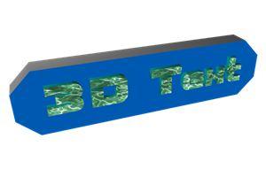 شرح طريقة عمل نصوص وشعارات ثلاثية الابعاد Binerus 3D Text 1.00
